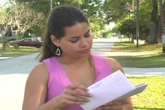 Hot Brunette Gets her Mail-5a Stock Footage