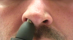 Hairy Nose Stock Footage