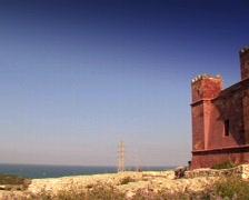 Castle Mellieha - stock footage
