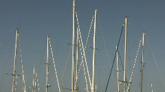 Boat masts gently bob up and down Stock Footage