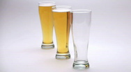 Stock Video Footage of Three glass beer pour V2 - HD