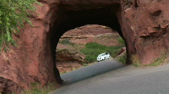 car red rocks 1080p 03 - stock footage