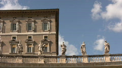 Apostolic Palace in Vatican City Stock Footage