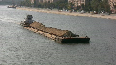 Barge - stock footage