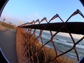 Stock Video Footage of beach fence sunset