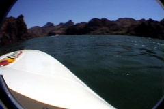 Lake havasu boat ride Stock Footage