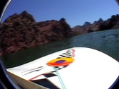 Stock Video Footage of Lake havasu boat ride