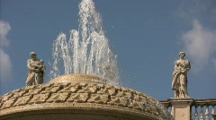 Fountain on Saint Peter's Square - Vatican City Stock Footage