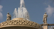 Stock Video Footage of Fountain on Saint Peter's Square - Vatican City