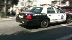 San Fransisco Police Car Driving down Street Stock Footage