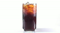 Glass of iced coke loop - HD  Stock Footage