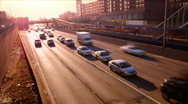 Morning Drive Stock Footage