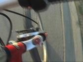 Bike pov sunset Stock Footage