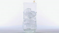 Coke pour on ice - HD  Stock Footage