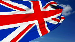 UK flag Stock Footage