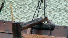 Details of old viking ship 2 Stock Footage