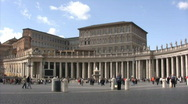 Stock Video Footage of Saint Peter's Square - Time laps