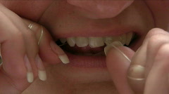 Flossing Stock Footage