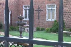 Garden fence drop Stock Footage