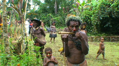 Editorial, Tribesmen, Papua New Guinea   Stock Footage