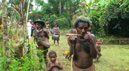 Stock Video Footage of Editorial, Tribesmen, Papua New Guinea