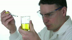 Stock Video Footage of Chemist Mixing