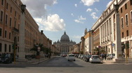 Stock Video Footage of Street in front of vatican city