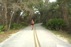 Sexy Woman Jogging-1 - stock footage