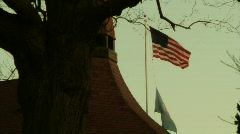 American Flag in the Morning Stock Footage