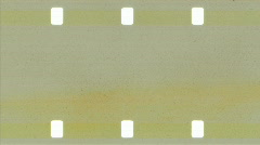 Vintage 16mm blank Film Leader with sprockets Stock Footage