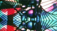 Vintage 8mm Film - Psychedelic Transition 05 Stock Footage