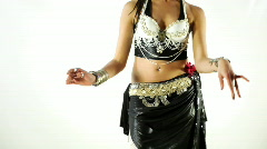 Traditional oriental belly dancer Stock Footage