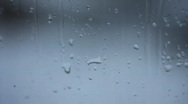 Macro rainy window Stock Footage