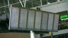 Flight information board 3 Stock Footage