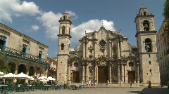 Havana, Cuba, Cathedral square, #7 Stock Footage