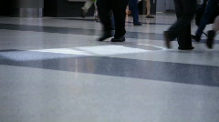 Airport travelers Stock Footage