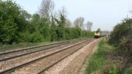 Stock Video Footage of High Speed passenger railway train in Leicestershire England.
