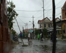 Flooded Street After Hurricane Hit Stock Footage