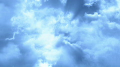 Flying Through Beautiful Cloud Layers Stock Footage