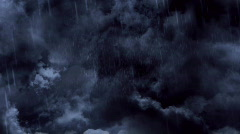 Flying Through Dark Rain Clouds Stock Footage