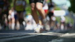 marathon shallow DOF - stock footage