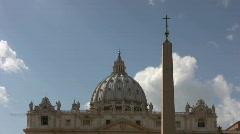 Basilica di San Pietro in Vaticano  - Time Laps - stock footage