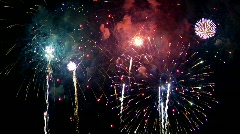 Fireworks Exploding in the Sky - with Audio Stock Footage