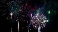Stock Video Footage of Fireworks WITH AUDIO - 1920x1080 HD