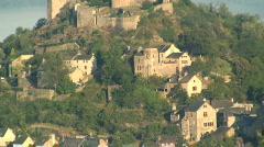 Najac castle France Stock Footage