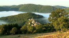 Bar village Aveyron France Stock Footage
