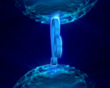 3d rotating leo zodiacal symbol in abstract space, loopable Stock Footage