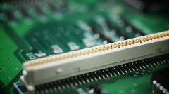 Macro Circuit Flyover - shallow focus Stock Footage