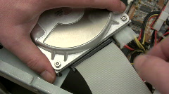 Disconnecting Hard Disk Stock Footage