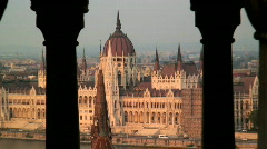 View from Buda Castle,Budapest Stock Footage